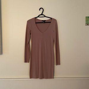 🌵4/$20 Long Sleeve Bodycon Dress - Mauve